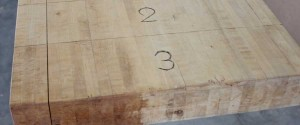Cracked Shuffleboard Play-Board