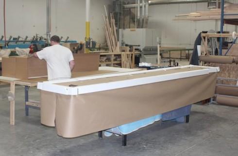 shuffleboard table packing