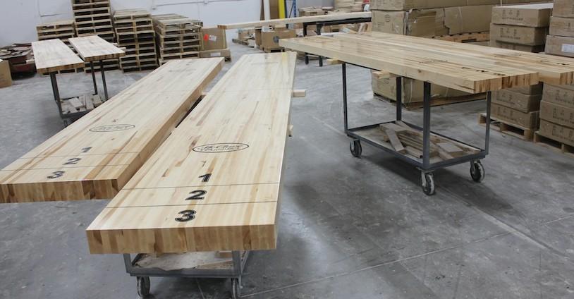 shuffleboard table finish
