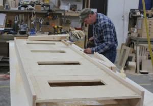 Shuffleboard Cabinet Assembly