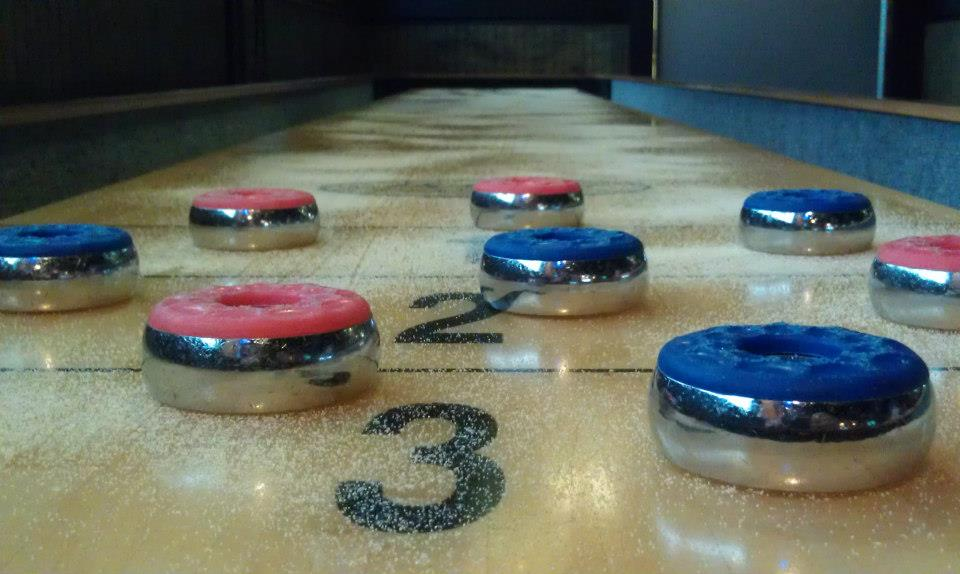 Cue Stick Shuffleboard Table