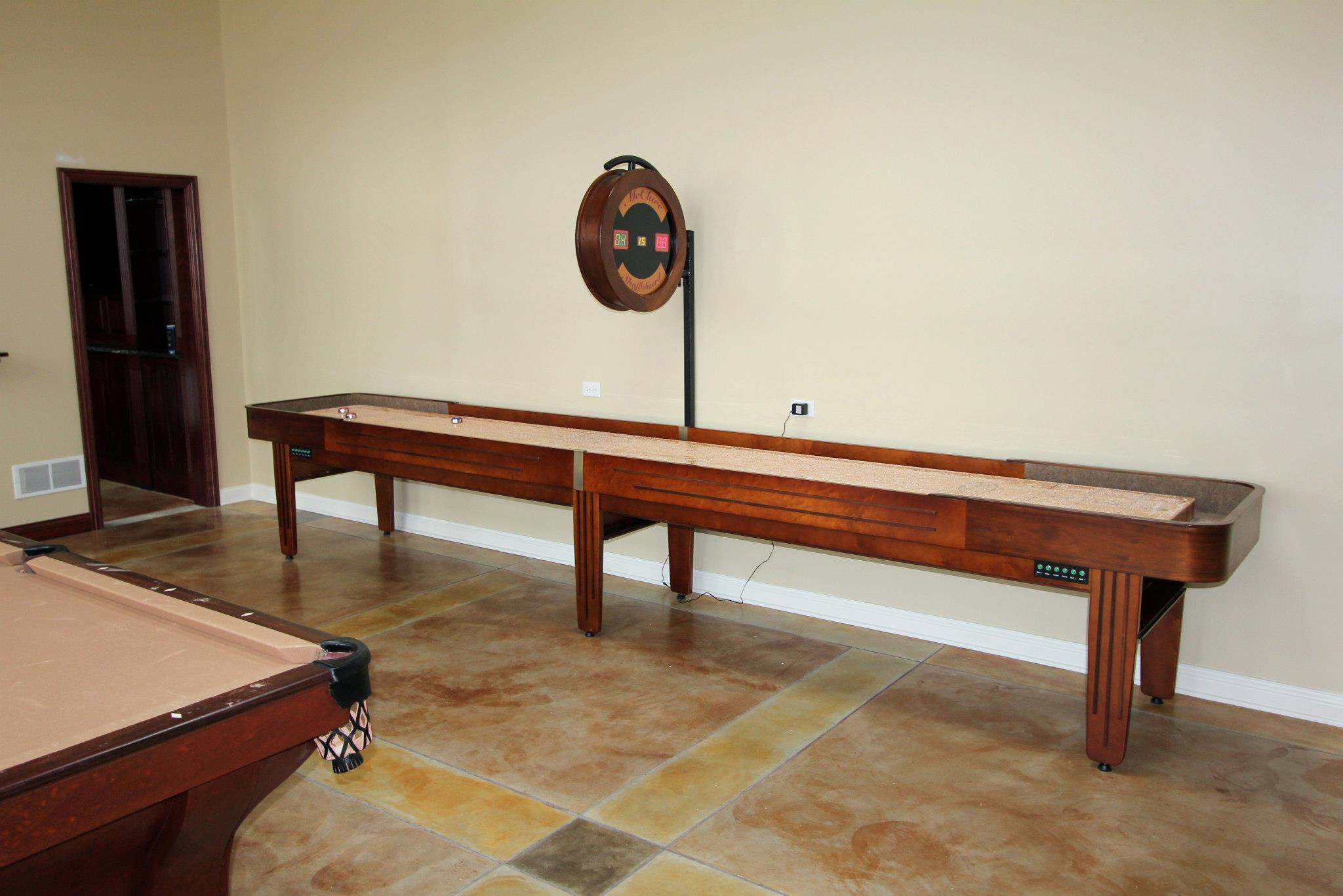Shuffleboard table handcrafted McClure Shuffleboards