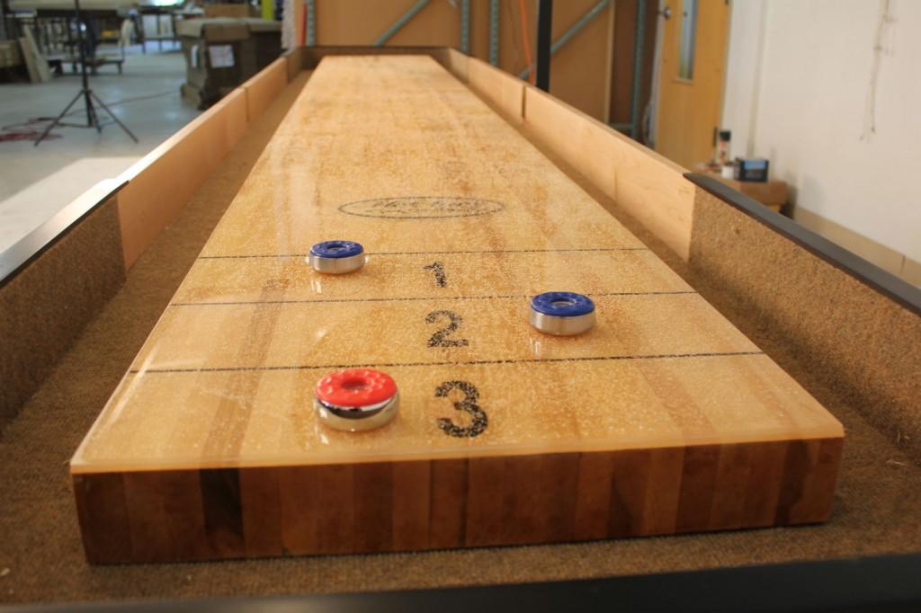 Table Length. Shuffleboard Wax