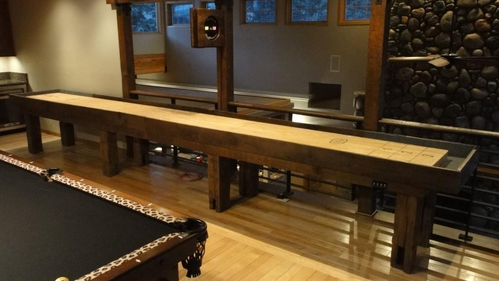 Reclaimed Barnwood Shuffleboard Table