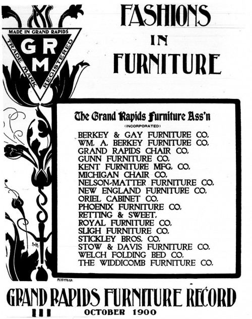 Top Left, The Grand Rapids Furniture Trademark (Source: http://www.furniturecityhistory.org/)