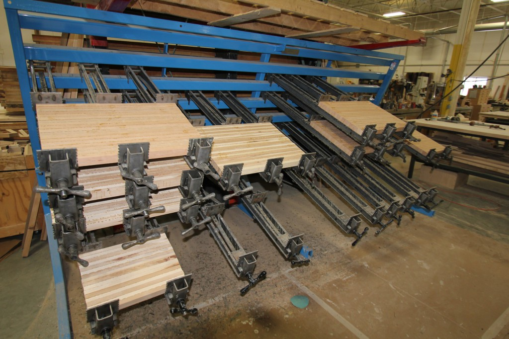 McClureButcherBlockGlueRack-1024x682 A Look Inside McClure's Grand Rapids Woodworking Factory