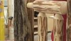 Lodge style Legs for Montana Shuffleboard