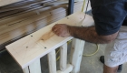 Shuffleboard Legs rustic shuffleboard