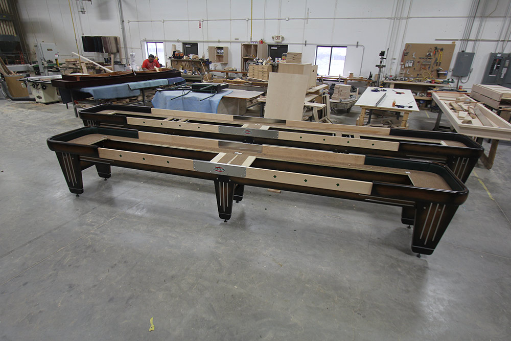 22 Foot and 16 Foot Rock-Ola Shuffleboard Tables