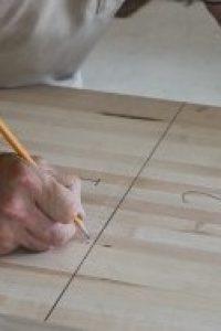 Rock-Ola Shuffleboard Top Marked by Hand