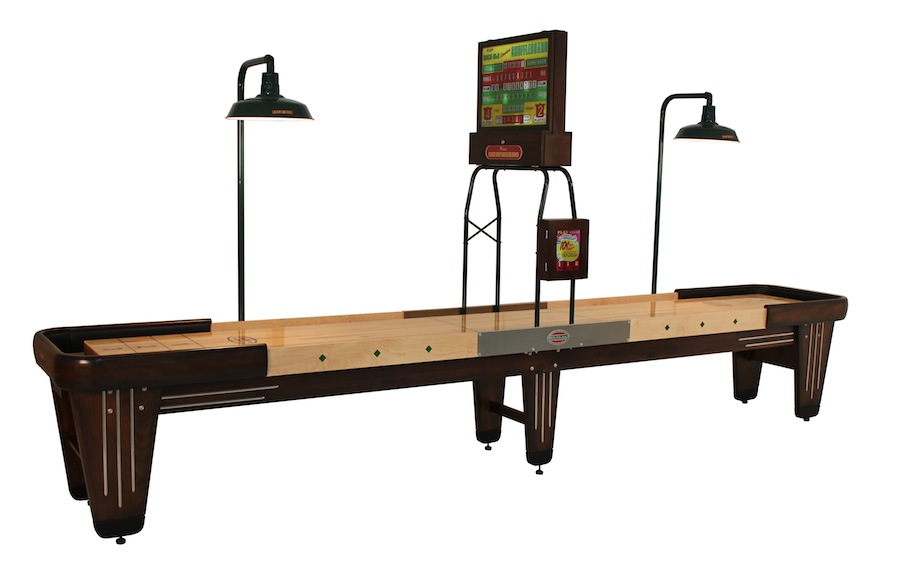 16 Foot Rock Ola Walnut Shuffleboard Table