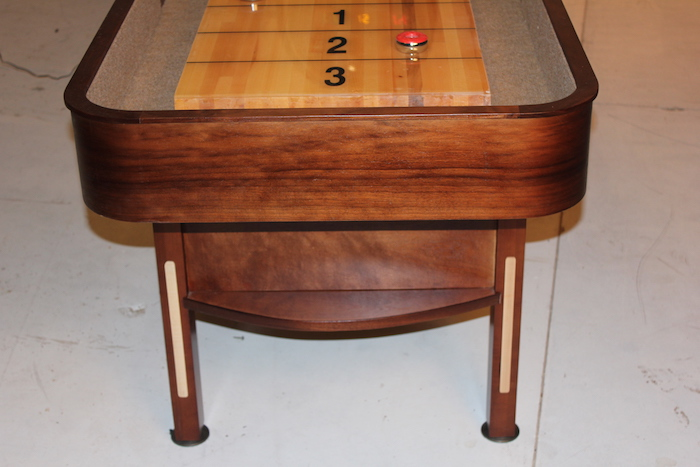 Prestige Walnut and natural Maple Trim Shuffleboard