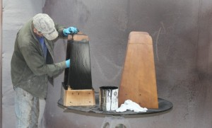 Rock-Ola Legs Shuffleboard Hand finish work