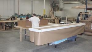 Packing shuffleboard table