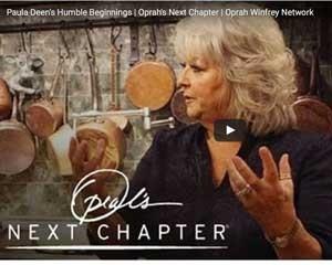 Oprah Interview Paula Dean McClure Shufflebaord Table in background