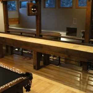Reclaimed Barnwood Shuffleboard Table