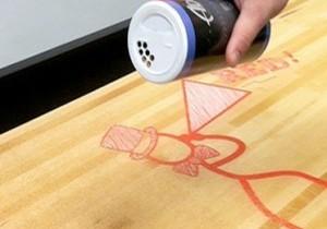 apply shuffleboard table wax