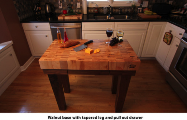 walnutbase-e1409066743936 Best Uses For a Butcher Block Kitchen Island or Gathering Table