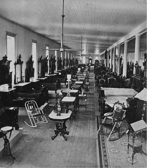 Berkey & Gay Co. Showroom, 1880 (Source: https://www.furniturecityhistory.org/)