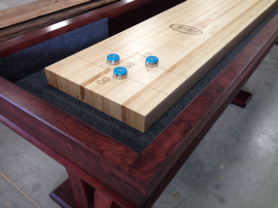 Choosing right finish optioins for your shuffleboard