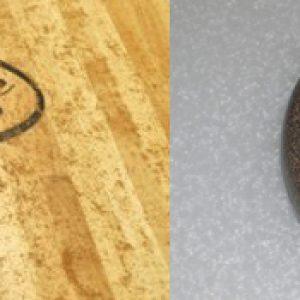 shuffleboard pucks and a curling stone