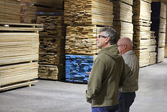 Dry Wood Lots Lumber Selection