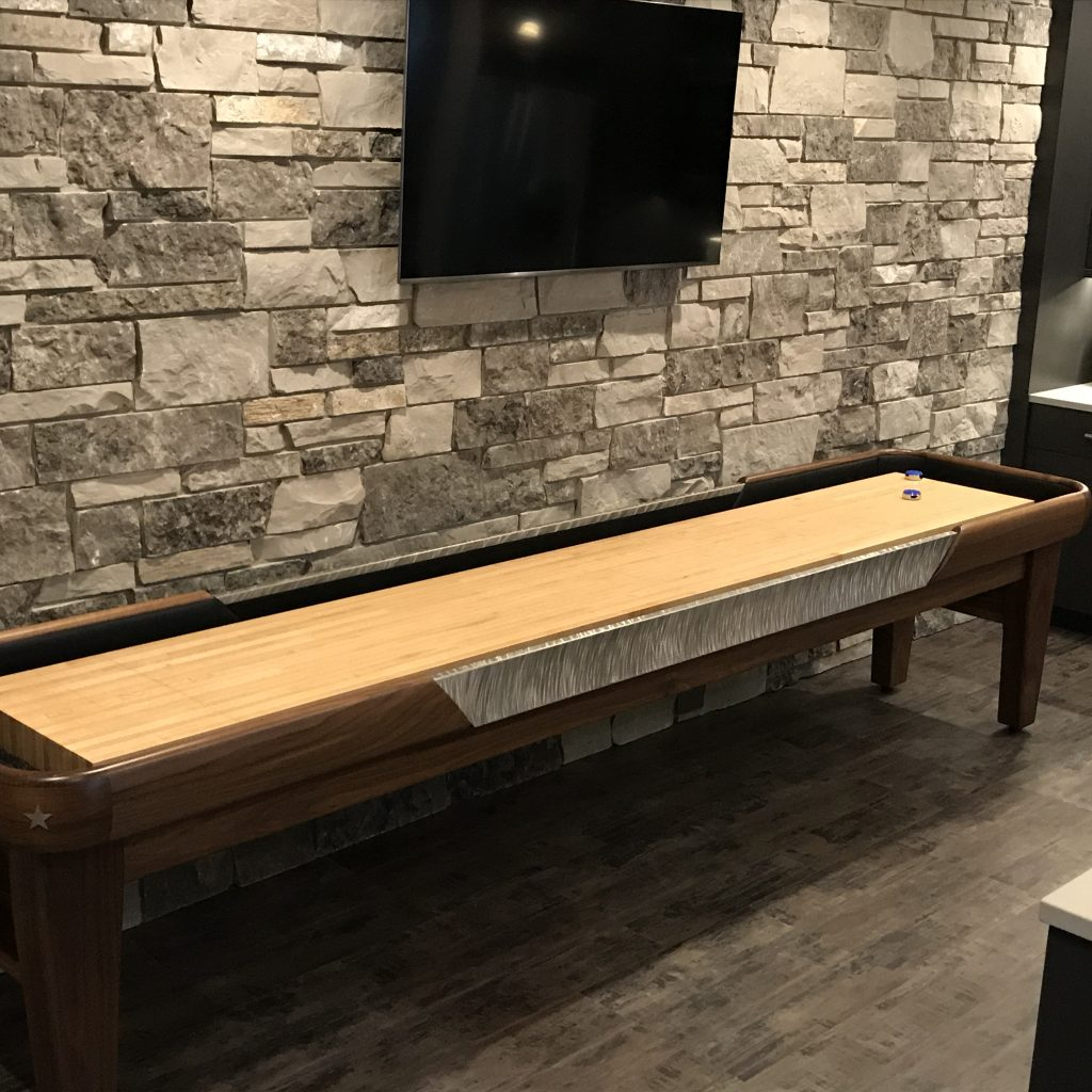 Custom Man Cave Shuffleboard table