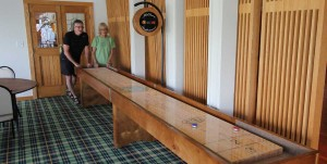 Shuffleboard Custom Logo Recover Sports Bar