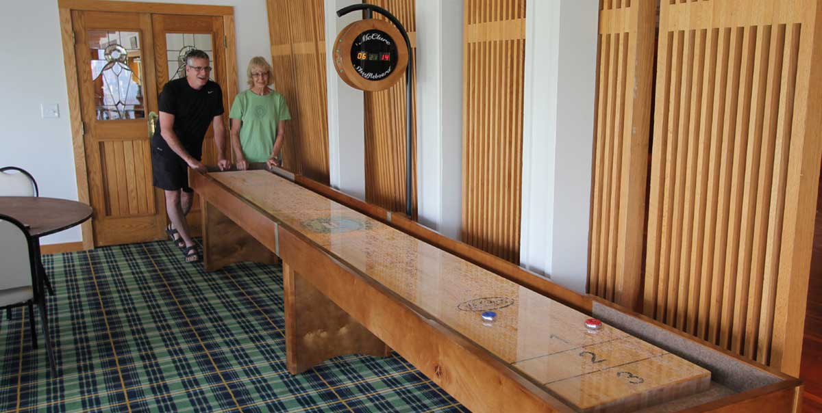 Shuffleboard Table Custom Logo Leadland Lodge