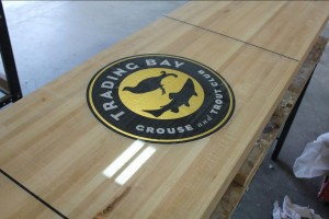 trading bay shuffleboard table by McClure