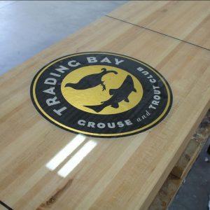 trading bay shuffleboard table by McClure