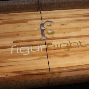 Figure8 logo shuffleboard table by McClure