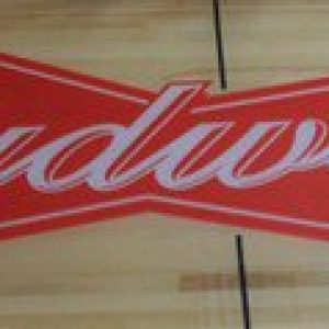 Budweiser Beer Logo Shuffleboard Table by McClure