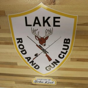 lake rod and gun logo shuffleboard table by McClure