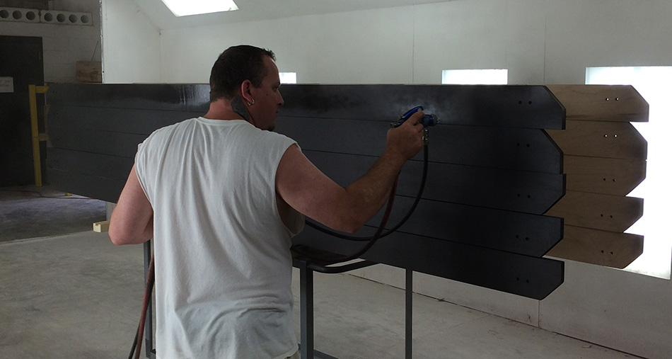 Handcrafted Production Run Shuffleboard