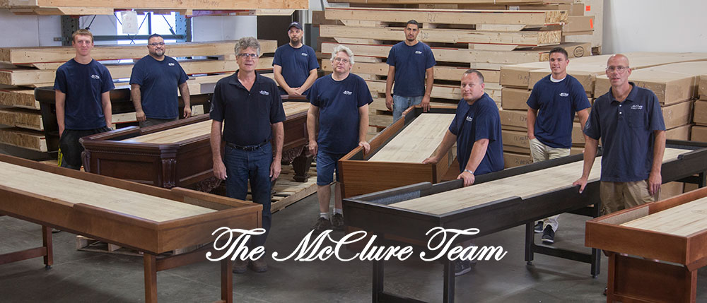 Charmant McClure Tables Crafts Each Shuffleboard Table By Hand. Then They Are  Finished, And Closely Inspected By Our Team Of Highly Skilled And Dedicated  Woodworking ...
